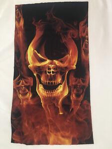 FLAMING SKULL Face Mask Neck Gaiter Bandana TubeScarf Sun Shield-BUY ONE get TWO