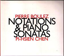 Pierre BOULEZ Notations & Piano Sonata 1 2 3 Pi-Hsien CHEN Klaviersonaten CD 陳必先