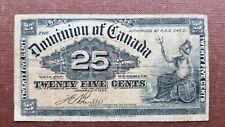 02 Canada / Kanada  P 9b 25 Cents 1900