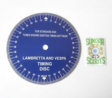 ALLOY TIMING DISK FOR LAMBRETTA AND VESPA SCOOTERS WITH AN ELECTRONIC IGNITION.