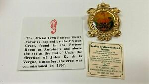 PROTEUS 1998 CREST PIN NEW ORLEANS MARDI GRAS KREWE FAVOR MGS628