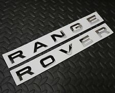 CHROME RANGE ROVER SPORT EVOQUE P38 P322 FRONT REAR BADGE LETTERING