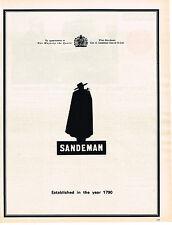 PUBLICITE  1967   SANDEMAN  porto