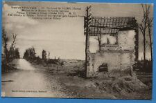 CPA: Environs de Reims - Ruines de la Maison du Garde barrière.../ Guerre 14-18
