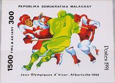MADAGASCAR MALAGASY 1991 Block 174 S/S 1044 Winter Olympics 1992 Alberville MNH