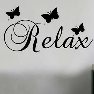 Relax butterflies Wall Quote Art Sticker SS7