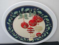 Tognana Merry Christmas Balls Platter Chop Plate Italy