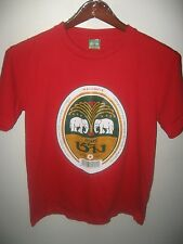 Chang Beer ThaiBev Thailand Thai Elephant Pub Lounge Bar Bottle Label T Shirt M
