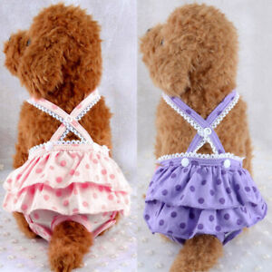 1PC Pet Physiological Pants Puppy Sanitary Diapers Dot Printing Safety Pants