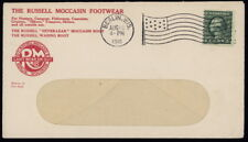 US 443 on 1916 Russell Moccasin Footwear corner adv cover w/Berlin, Wis. pmk