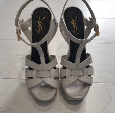 Yves Saint Laurent Tribute Platform Sandal Heels - Authentic YSL - UK 38 UK 5