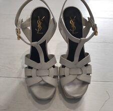 Used YSL Saint Laurent Tribute Sandals Heels UK 38 UK 5