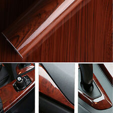 30x124cm Glossy Wood Grain Textured Vinyl Self-adhesive Car Wrap Decals Stickers
