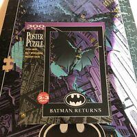 Batman Returns Vintage 1992 300 Piece Poster Puzzle Jigsaw 1 PIECE MISSING