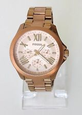 Fossil Damen Uhr Cecile gold rosé römisch Edelstahl Datum Wochentag 24h AM4634