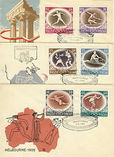 Poland FDC 1956 The 16th Olympic Summer games in Melbourne, Australia