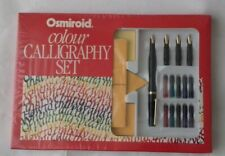 BRAND NEW  VINTAGE OSMIROID COLOUR CALLIGRAPHY  SET & BOOK BY  BARBARA BUNDY