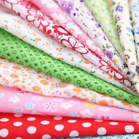 100pcs DIY Assorted Pre Charm Cut Fat Quarters Cotton Fabric Quilt Sewing Bundle