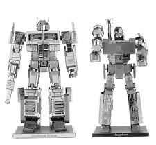 Set of 2 Fascinations Metal Earth Transformers Model Kits Megatron Optimus Prime