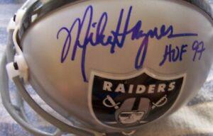 Mike Haynes Howie Long autographed signed Oakland LA Raiders Riddell mini helmet