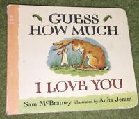 Guess How Much I Love You by Sam McBratney (Board Book) 1996