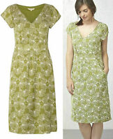 New White Stuff size 8 - 18 Geo Butterfly Print Green Ivory Tea Shift Dress