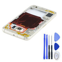 Back Rear Housing Middle Bezel Frame For Samsung Galaxy S6 G920 Camera Lens+Tool