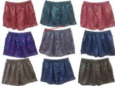 1, 3, or 5 Mens Silk Boxer Shorts. Stylish Multi Design Underwear. M. L. XL.XXL