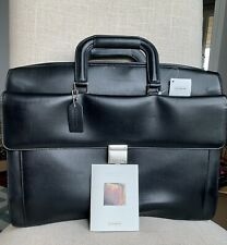 NEW $798 COACH Bridle Briefcase Brief Business Bag 6504 Black Leather Italy Nwt