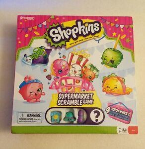 Shopkins Supermarket Scramble Exclusive Characters Board Game  Phone, Hat