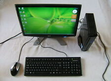 ACER Mini PC Intel 2 x 2.20 GHz 250GB DVD SD WiFi TV Tuner + LCD Monitor 19""