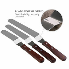 New 3PCS Stainless Cake Icing Decor Angle Spatula Palette Knives Icing Spreader