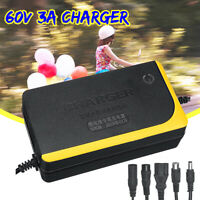 60V 3A Charger for Skateboard Li-ion Battery Single-wheeled Electric Bicycle 8h