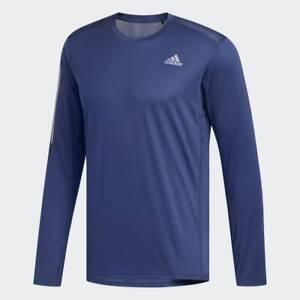 adidas Own The Run Long Sleeve Mens Running Top - Navy