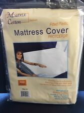 NEW Fitted Plastic Mattress Protector Cover Lightweight FULL SIZE