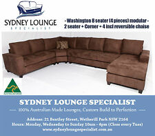 Brand New - AUS MADE Washington Modular 8 seater Corner Chaise Lounge Couch Sofa