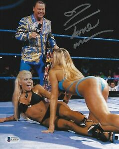 Torrie Wilson Signed 8x10 Photo BAS COA WWE Picture w Stacy Keibler Jerry Lawler