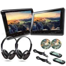 "2019 Dual Portable Universal 10.1"" Car Headrest DVD Player Digital Monitors HDMI"