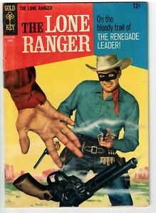 THE LONE RANGER #6 1967 GOLD KEY SILVER AGE NICE!