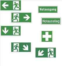 Fluchtweg Notausgang Schild Aufkleber nachleuchtend - selbstklebend - ASR A1.3