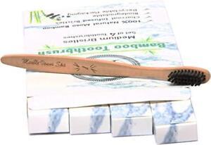 Bamboo Toothbrush Kit – 100% Natural Moso Bamboo Biodegradable Eco-Friendly