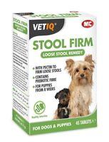 VetIQ Stool Firm - Dogs & Puppies 45 Tabs  Loose Stools Hardener SAMEDAY DISP'