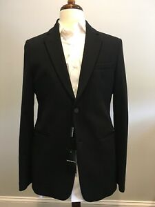 $1300 New Emporio ARMANI Mens Black Suit Jacket SLIM Sport Coat Blazer Size 40