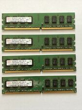New listing Qty 4 Hynix 2Gb Pc2-6400U Ddr2 800 2Rx8 Desktop Ram/Hymp125U64Cp8-S6 Unbuffered