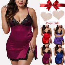 Plus Size Women Lace Sexy Sissy Lingerie Babydoll Nightdress Nightie Sleepwear