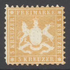 Württemberg Mi. Nr. 22a* ungebraucht geprüft Irtenkauf BPP 1.000 Euro