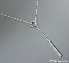 "925 Sterling Silver Lariat Extra Long Fine Necklace 75cm/29.5"" 4.02g UK New"