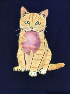VERY COOL NEW JERSEY SHORE HAPPY CAT ++++T TEE SHIRT!____(PORK ROLL]