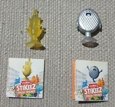 Coles Stikeez Limited Edition 2020 Rare Buster Burger and Connor Corn