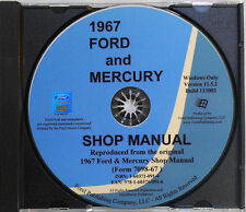 1967 Ford Mercury Shop Manual (CD-ROM)